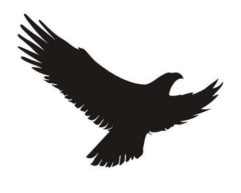 Svart fugl klistremerke