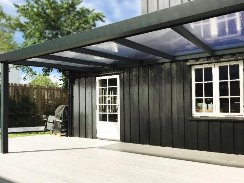 terrassetak med polikarbonat uteluksus