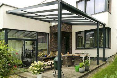 Terrassetak og carport